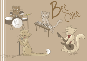 Beecake kittens by wingedkin