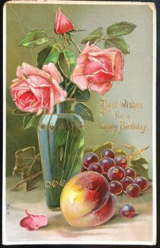 Vintage Postcard - Roses from the Garden by KarRedRoses
