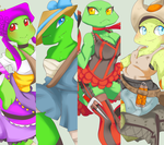 TmnT OutLaw Sister's ( BackGround ) by MutantCatRose