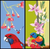 Birds and Flowers by prudentia