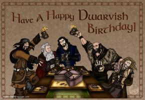 The Hobbit: Happy Dwarvish Birthday! by wolfanita