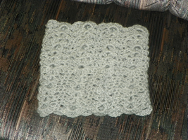 Silver Heather Lacy Cowl by SparklyStash