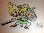 Link and Tetra by Shadewingz