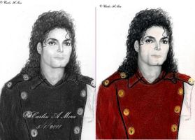 MJ and Stained Glass by CezLeo