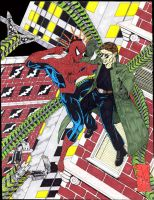 Spidey vs Doc Ock by childofdanu
