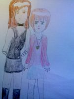 Me and my bff (human) by FairyTailForever123