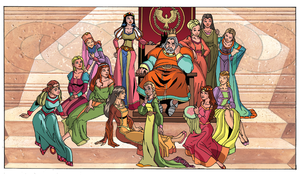 A king and his princesses by Ben-Abernathy