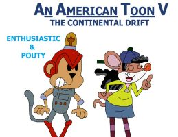 An American Toon V Poster - Enthusiastic and Pouty by HunterxColleen