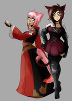 CO: Tay and Sabrith by smackweenies