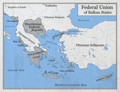 Federal Union of Balkan States by zalezsky