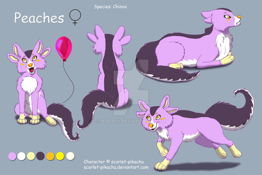 Peaches - Complex Ref [Commission - Gift] by Nala15