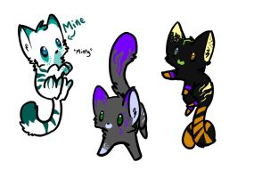 Kitty adoptables OPEN by SpiritInSpace