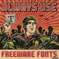Freeware fonts guard 2 by roberlan