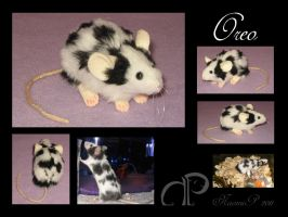 Custom Mouse Plushie - Oreo by Morumoto