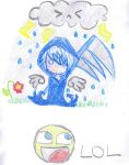 Lil' grim reaper roman by WeAteTheCrayons