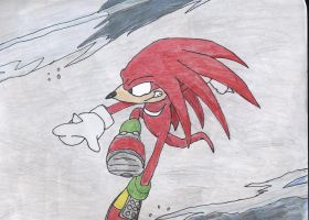 Knux and a wave by DeathlingDog