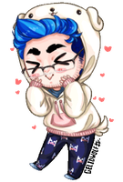 Markimoo and his Chica Hoodie by Gelidwolf