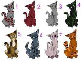 Kitty Adoptables [open and free] by Blackbrier