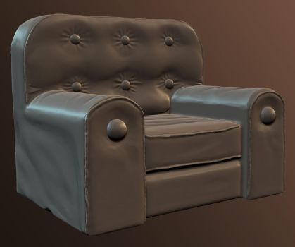High Poly Chair by dudealan2001