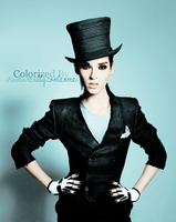 Bill Kaulitz: GQ Mag:Colorized by ihaveareallycoolname