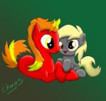 Cinderspark and Filly Derpy (Commission) by ChaosGiant