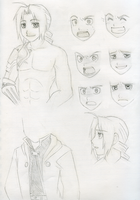 Edward Elric Concept Sheet by SonicRocksMySocks