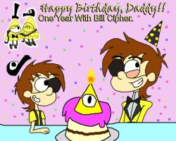 .:. Happy Birthday Bill Cipher .:. by Rise-Of-Majora