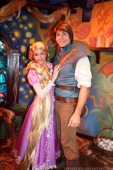 Rapunzel and Flynn by DisneyLizzi