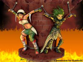 COM : Talim and Lini chained in the fire dungeon by whiteguardian
