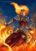 Chandra - Magic the Gathering by DragonsTrace