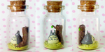 Polymer Clay : Totoro in a bottle by CraftCandies
