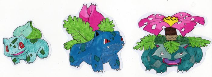 Bulbasaur Evolution by TheNidorino