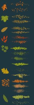 Leaves - photoshop brushes by streamline69