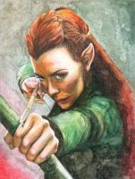Tauriel by MariaBruggeman