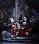 Throne of roses by Fae-Melie-Melusine
