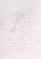 :Sketch:Dragon Force Unleashed: Flame of Courage by TechnoGamerSpriter