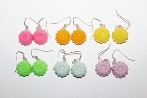 Polymer Clay Jello Earrings by CharmStop