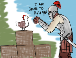 Knighty plays Minecraft by Poisonous-Arrows