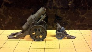 Warhammer 40K - Heavy Mortar (regular and Mini) by Dented-Rick