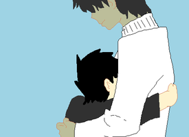 Alphonce hugging his father by 2DXMurdocfan