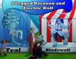 [C] 8 Legged Racooon and And Electric Wolf by KillerWolf1020