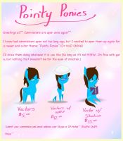 Pointy Ponies- Commissions Banner by TakaraPOV