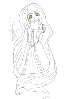 Repunzel -sketch- by Coco-Apple