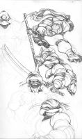 TMNT sketches by ChaseConley