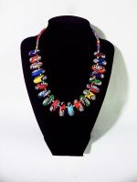 Rainbow Polymer Clay Necklace by Laurenry