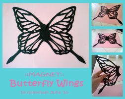 ::Magnet:: Butterfly Wings by hamxham