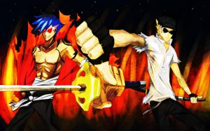 Kamina and Bro: Rise Up by Madness-of-Truth
