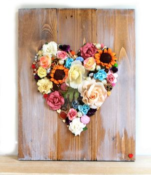 Floral Distressed Wall Plaque by LovelilyArt