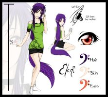 Elani Faust - Reference Sheet by Toxxic-Vixen