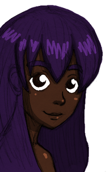 Cute Purple Haired Girl by keylord